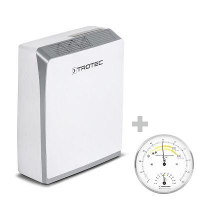 Deshumidificador por adsorción TTR 56 E + Termohigrómetro para interiores BZ15M