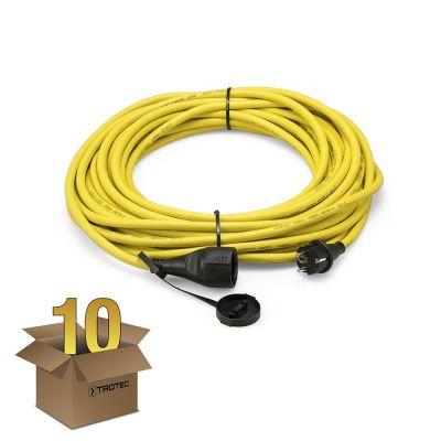 Cable alargador profesional de 20 m / 230 V / 2,5 mm² - Made in Germany en juego de 10 unidades