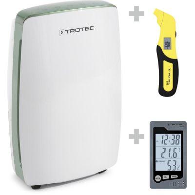 Deshumidificador de diseño TTK 68 E + Termohigrómetro interiores BZ05 + Medidor presión neumáticos BY10