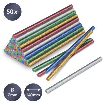 Juego de barras de pegamento termofusible brillante, 50 unidades (Ø 7 mm)