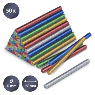 Juego de barras de pegamento termofusible brillante, 50 Unidades (Ø 11 mm)