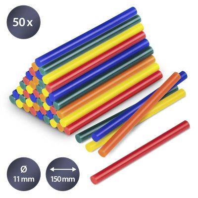 Juego de barras de pegamento termofusible en color, 50 unidades (Ø 11 mm)