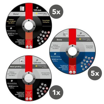 Juego de discos de corte y desbaste (11 piezas)