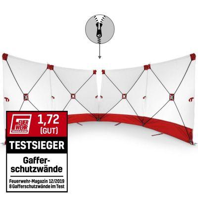 Mampara protectora de accidente - VarioScreen 4*180*180 divisible roja