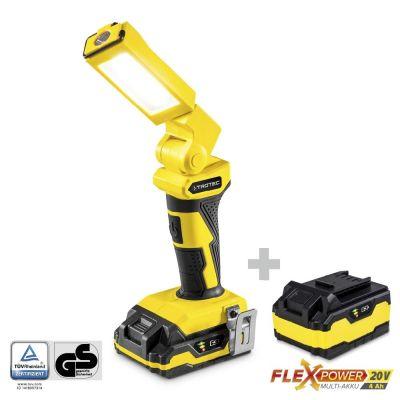 Lámpara de trabajo con batería PWLS 10-20V + Batería de repuesto Flexpower 20V 4,0 Ah