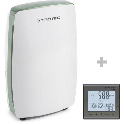 Deshumidificador de diseño TTK 68 E + Detector de calidad del aire (CO2) BZ25